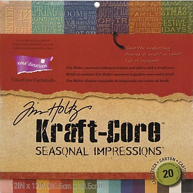 Darice® Core'dinations Kraft Core Seasonal Cardstock Pad By Tim Holtz, 12