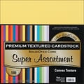 Darice® Core'dinations Super Assortment Textured Cardstock, 12in. x 12in., 100/Pack