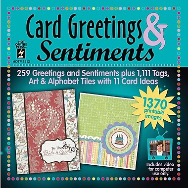 Hot Off The Press Card Greetings and Sentiments CD