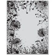 "Hero Arts® 4 3/4"" x 5 3/4"" Cling Stamp, Dandelion Frame"