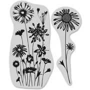 "Hero Arts® 4 3/4"" x 5 3/4"" Cling Stamp, Wildflower Garden"