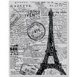 Hero Arts® 4 3/4in. x 5 3/4in. Cling Stamp, Newspaper Eiffel Tower