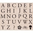 Hero Arts® 4in. x 5in. Mounted Rubber Stamp Set, Garamond Letter