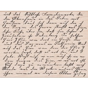 "Hero Arts® 3 3/4"" x 4 1/2"" Mounted Rubber Stamp, Old Letter Writing"