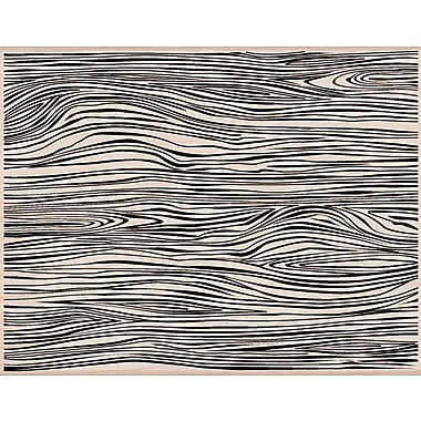 Hero Arts® 3 3/4in. x 4 1/2in. Mounted Rubber Stamp, Designer Woodgrain