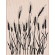 Hero Arts® 3 3/4in. x 4 1/2in. Mounted Rubber Stamp, Silhouette Grass