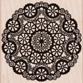 Hero Arts® 3 3/4in. x 4 1/2in. Mounted Rubber Stamp, Circle Lace