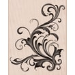 Hero Arts® 3 3/4in. x 4 1/2in. Mounted Rubber Stamp, Fabulous Flourish