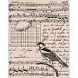 Hero Arts® 3 3/4in. x 4 1/2in. Mounted Rubber Stamp, Musical Collage