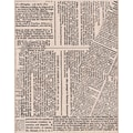 Hero Arts® 3 3/4in. x 4 1/2in. Mounted Rubber Stamp, Large Newspaper Background