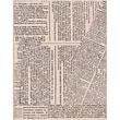 Hero Arts® 4.5in. x 3.75 Mounted Rubber Stamp, Large Newspaper Background