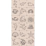 """Hero Arts® 3"""" x 4"""" Ink 'n Stamp Tub, Sea Life"""