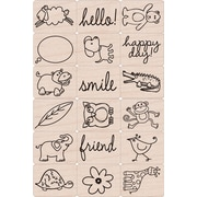 "Hero Arts® 3"" x 4"" Ink 'n Stamp Tub, Happy Animals"
