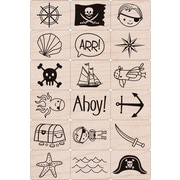 "Hero Arts® 3"" x 4"" Ink 'n Stamp Tub, Pirate"