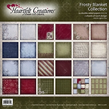 Heartfelt Creations® Frosty Blanket Double Sided Paper, 12in. x 12in.