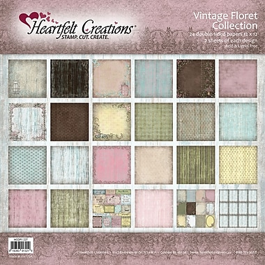 Heartfelt Creations® Vintage Floret Double Sided Paper, 12in. x 12in.
