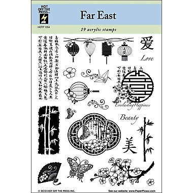 Hot Off The Press 5 1/2in. x 7in. Stamp, Far East Beauty