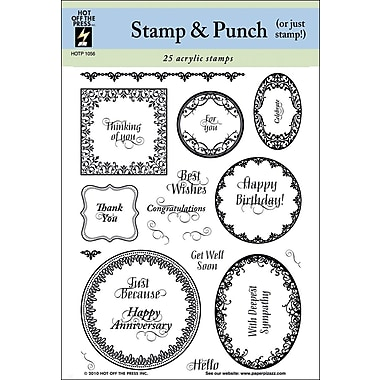 Hot Off The Press 6in. x 8in. Stamp, Stamp & Punch
