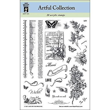 Hot Off The Press 6in. x 8in. Stamp, Artful Collection