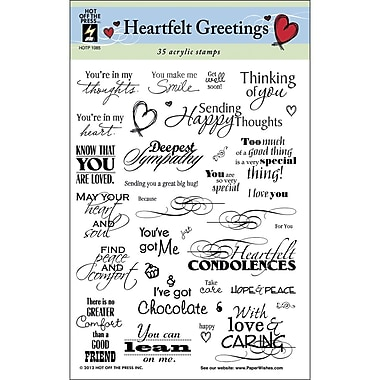 Hot Off The Press 6in. x 8in. Stamp, Heartfelt Greetings