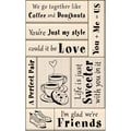 Inkadinkado® 5in. x 9in. Card Making Mounted Stamp, Love & Friendship