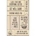 Inkadinkado® 5in. x 9in. Card Making Mounted Stamp, Get Well