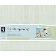 """Inkadinkado® 14 1/2"""" x 12"""" x 2 5/16"""" Stamp Storage Binder, Clear"""