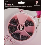 Imaginisce® i-rock Hot Rox Adhesive Gems Compact, Pink/Black/Clear
