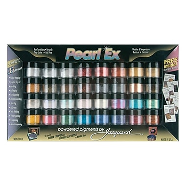 Jacquard JAC0632 Assorted Pearl EX Powdered Pigment, 3 Gram, 32/Pack