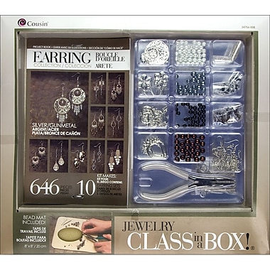 Cousin® Silver Tone Earrings Jewelry Basics Class in a Box Kit