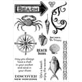 Stampers Anonymous Darcie's 5in. x 7 1/2in. Cling Mounted Stamp, Beach Bums