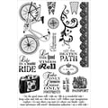 Stampers Anonymous Darcie's 5in. x 7 1/2in. Cling Mounted Stamp, A Beautiful Ride