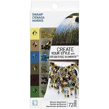 EK Success® Create Your Style Bicone Swarovski Assortment Gems, Swamp