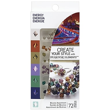 EK Success® Create Your Style Bicone Swarovski Assortment Gems, Energy