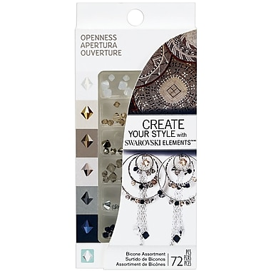 EK Success® Create Your Style Bicone Swarovski Assortment Gems, Openness