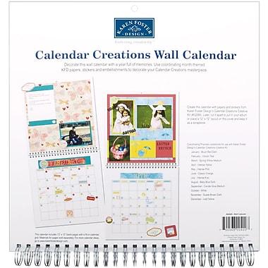 Karen Foster Calendar Creations Wall Calendar, 12
