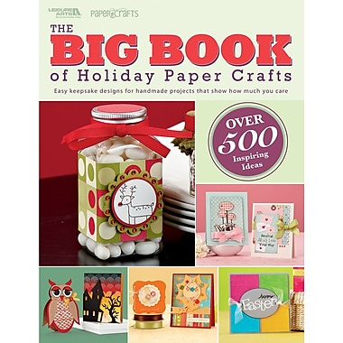Leisure Arts Book in.Big Book Of Holiday Paper Craftsin.