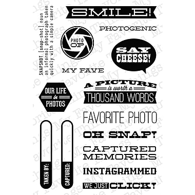 My Favorite Things 4in. x 6in. Laina Lamb Designs Clear Stamp, Document It - Captured Memories