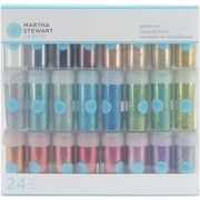 Martha Stewart Crafts M111102 0.37 oz. Glitter Set 24pcs