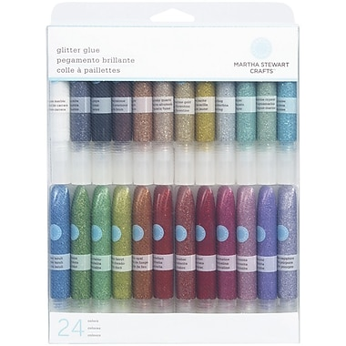 Martha Stewart Crafts Glitter Glue 0.33 oz., 24/Pack