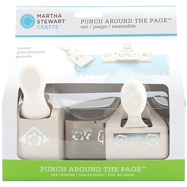 Martha Stewart Crafts® Punch Around the Page Set, Pansy, 1.8