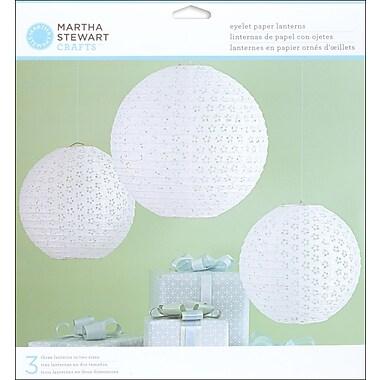 Martha Stewart Doily Lace Paper Lanterns Kit, White Eyelet, 3/Pack