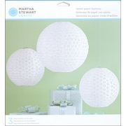 Martha Stewart Doily Lace Paper Lanterns Kit, White Eyelet, 3/Pack