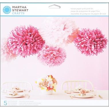Martha Stewart Vintage Girl Tissue Paper Pom Pom Kit, Pink
