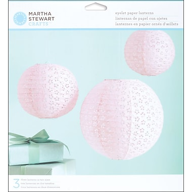 Martha Stewart Vintage Girl Paper Lanterns Kit, Pink