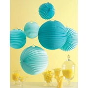 Martha Stewart Accordion Lantern, Blue