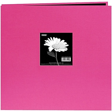 Pioneer® Book Cloth Cover Postbound Album With Window, 12