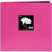 "Pioneer® Book Cloth Cover Postbound Album With Window, 12"" x 12"", Bright Pink"