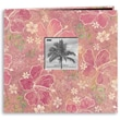 Pioneer® Tropical Postbound Album With Photo Window, 12in. x 12in., Purple