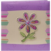 "Pioneer® 3-D Applique Striped Album, 12"" x 12"", Purple/Green"